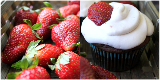 The Strawberry Covered Chocolate Cupcake