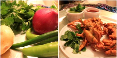 Crispy Vegetable Pakoras [Vegetable Fritters]