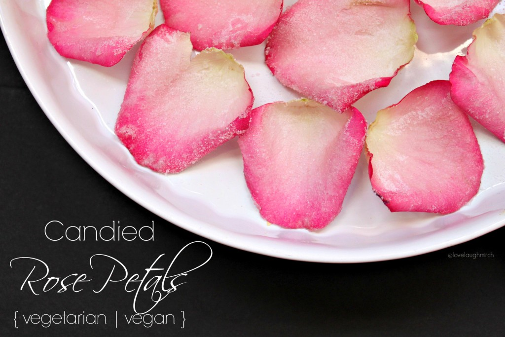 Vegetarian | Vegan Candied Rose Petals