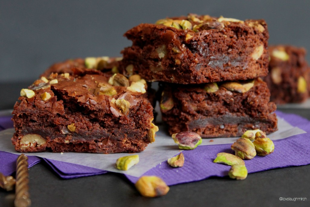 Salted Pistachio Brownies