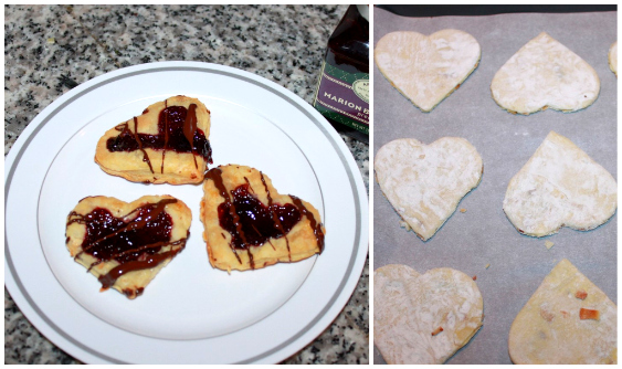 Blackberry Pastry Hearts