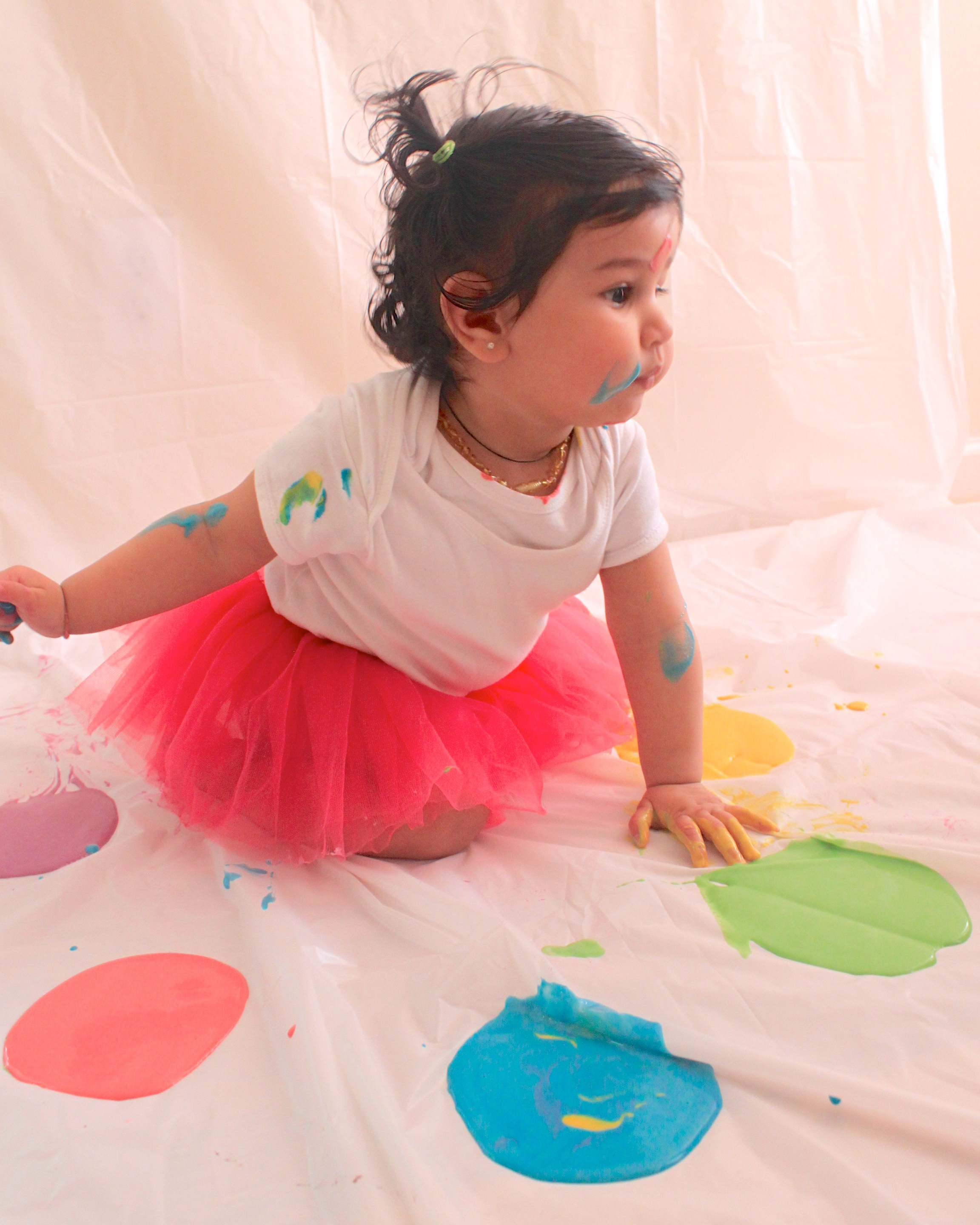 Celebrating Baby's first Holi